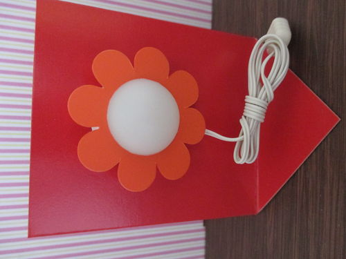 Wandlampe Blume orange